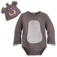 Image of Baloo Costume Bodysuit for Baby - The Jungle Book # 1