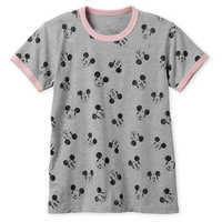 Image of Mickey Mouse Allover Ringer T-Shirt for Women # 1