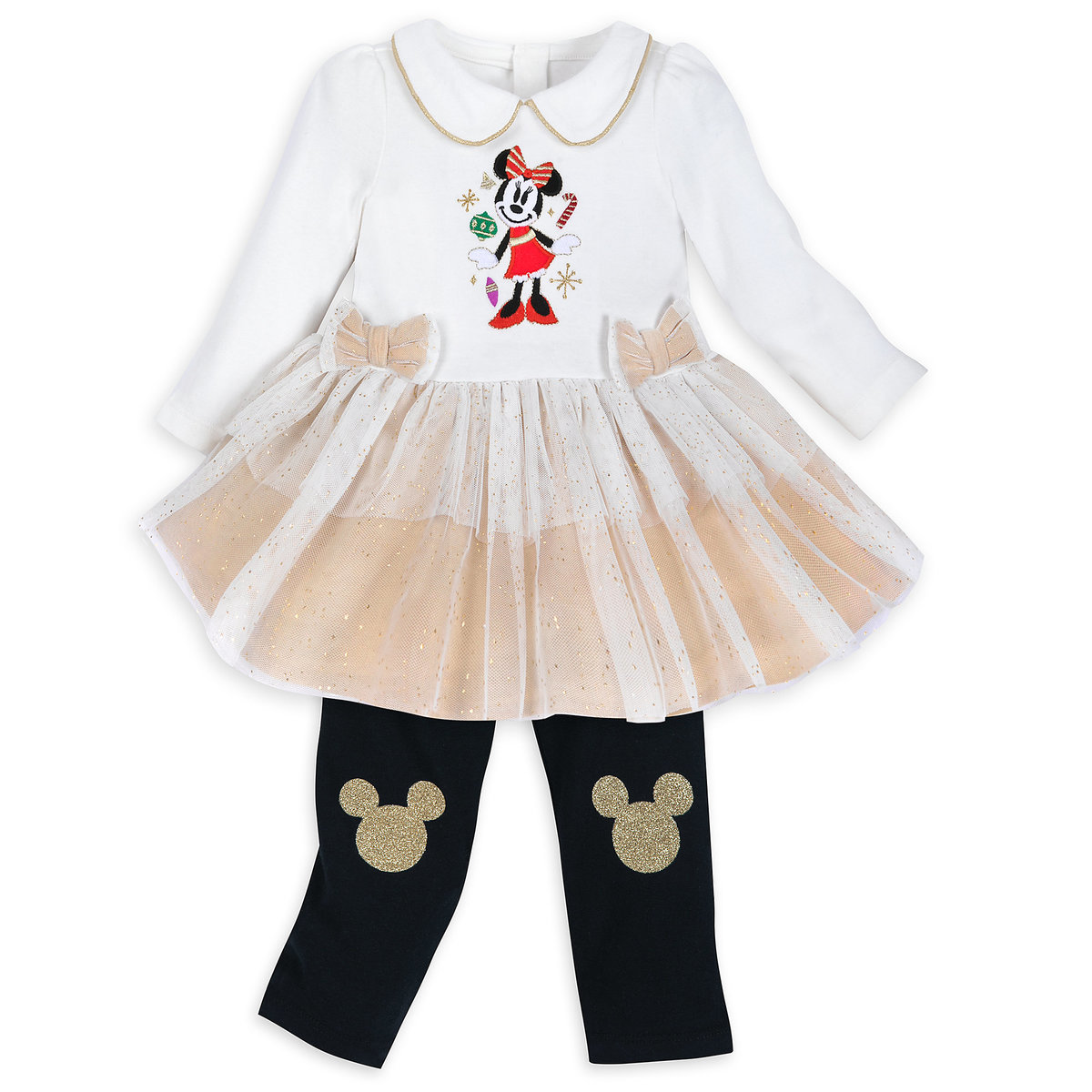 d51e2e6d96d46 Product Image of Minnie Mouse Holiday Tutu Dress and Leggings Set for Baby  # 1