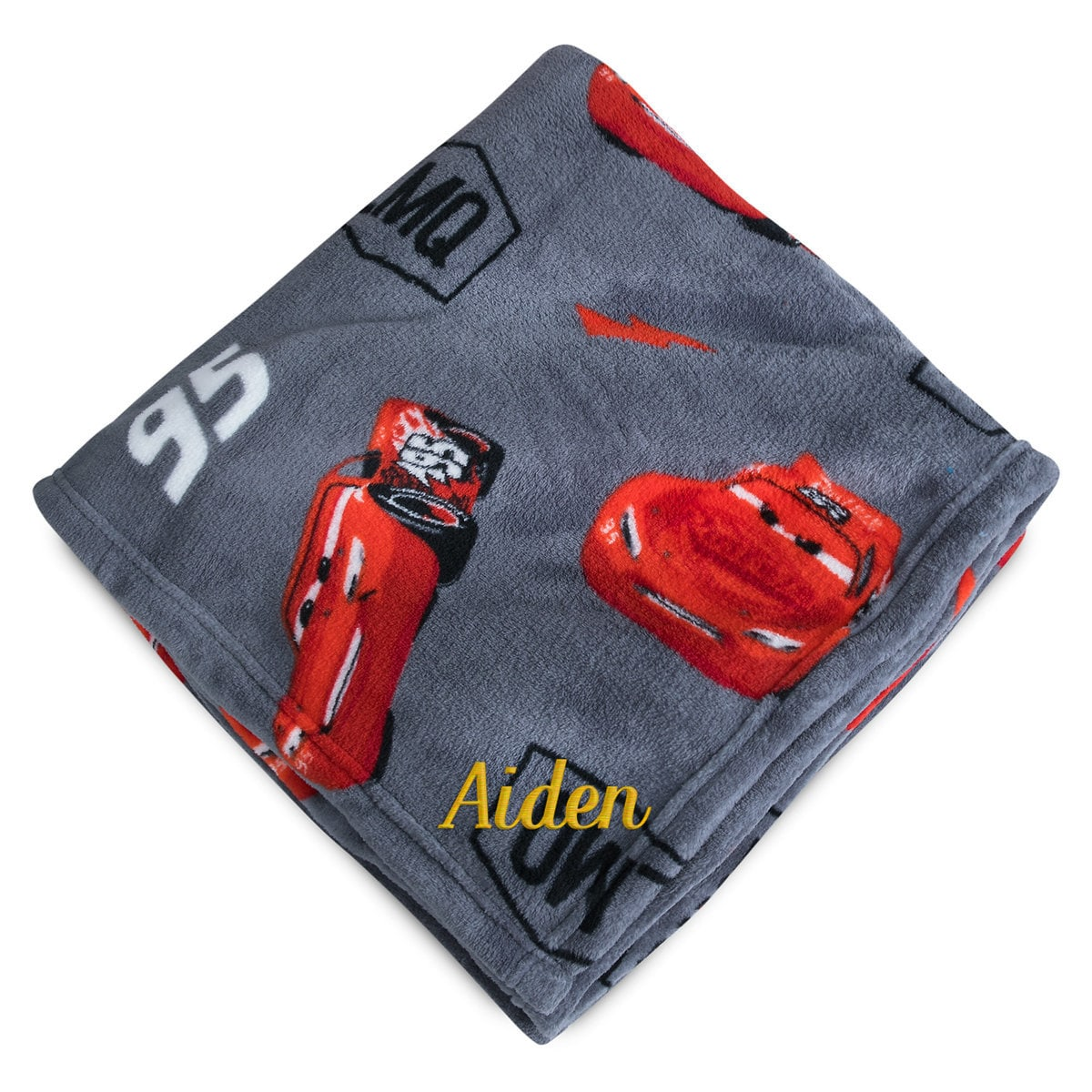 Product Image Of Lightning Mcqueen Fleece Throw Personalizable Cars 1
