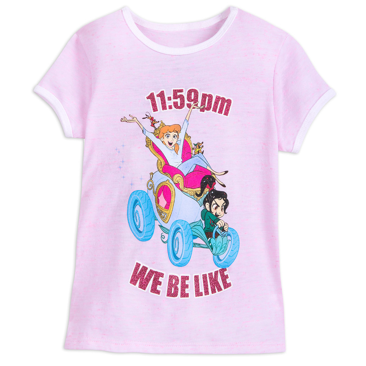 517b08b0aab7 Product Image of Vanellope and Cinderella Ringer T-Shirt for Girls - Ralph  Breaks the