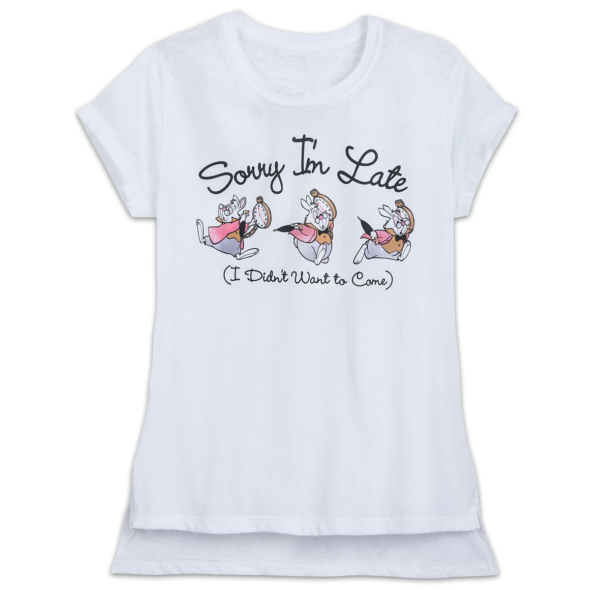 3f930d307d3 Product Image of White Rabbit T-Shirt for Women - Alice in Wonderland # 1