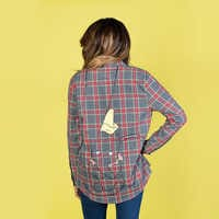 Image of Dumbo Flannel Shirt for Adults by Cakeworthy # 5