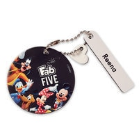 Mickey Mouse and Friends Round Leather Bag Tag - Personalizable