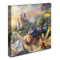 Image of ''Beauty and the Beast Falling in Love'' Gallery Wrapped Canvas by Thomas Kinkade # 2