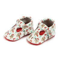 Image of Jessie and Bullseye Mary Jane Moccasins for Baby by Freshly Picked # 1