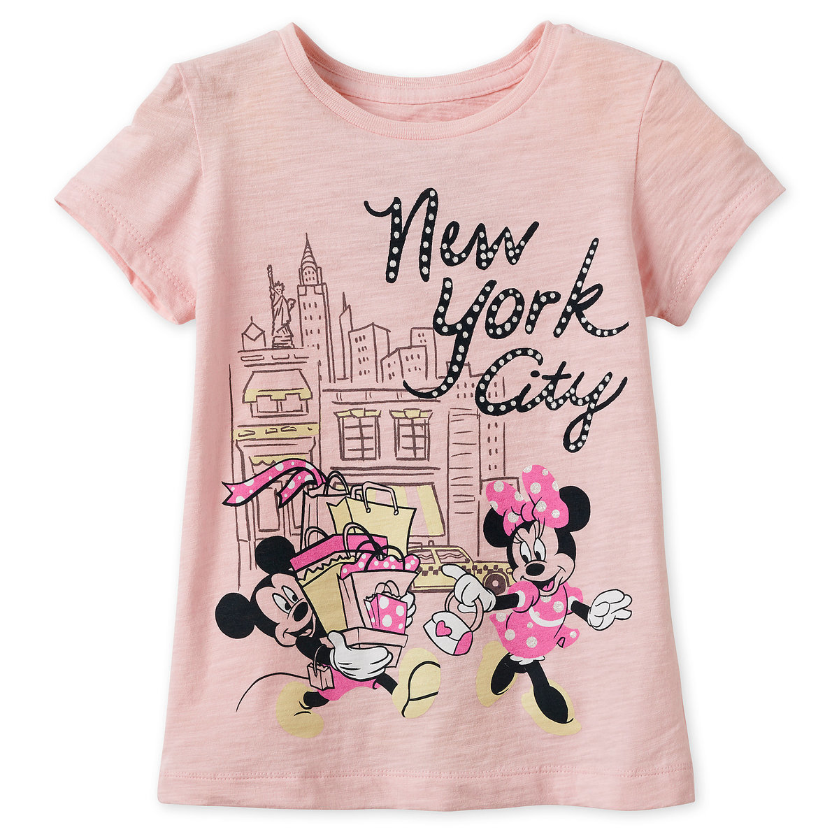 3f8219db8fd7 Product Image of Mickey and Minnie Mouse Shopping T-Shirt for Girls - New  York