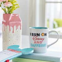 Image of Mickey Mouse ''I Run On Disney and Caffeine'' Donut Mug # 2