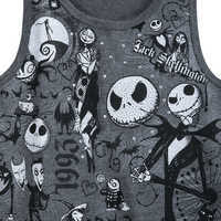 Image of Nightmare Before Christmas Fringed Tank Top for Girls # 3