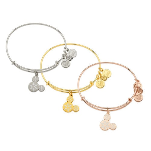 Mickey Mouse Snowflake Icon Bangle - Alex and Ani