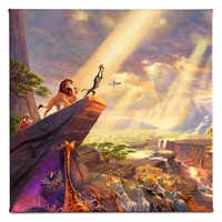 Image of ''The Lion King'' Gallery Wrapped Canvas by Thomas Kinkade # 1