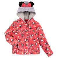 Image of Minnie Mouse Hooded Denim Jacket for Girls # 1