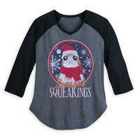 Image of Porg Holiday Raglan Shirt for Women - Star Wars: The Last Jedi # 1