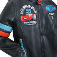 Image of Lightning McQueen Faux Leather Jacket for Boys # 5