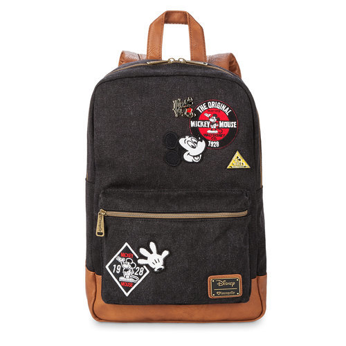 3fcf6a04459 Mickey Mouse Denim Backpack by Loungefly