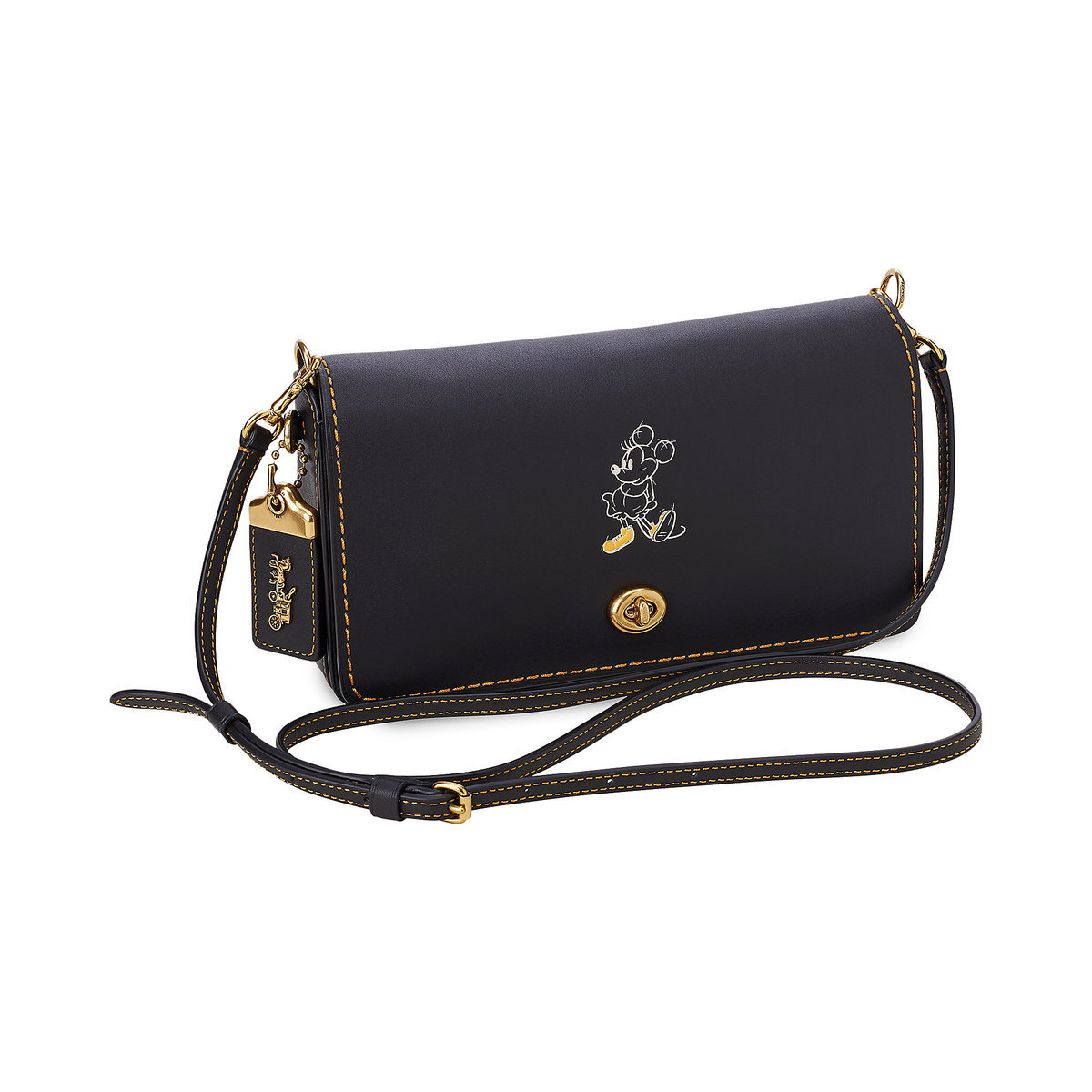 7cd7ecdcd0be Product Image of Minnie Mouse Dinky Leather Crossbody Bag by COACH   1