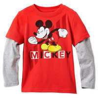 Image of Mickey Mouse Long Sleeve Layered T-Shirt for Boys # 1