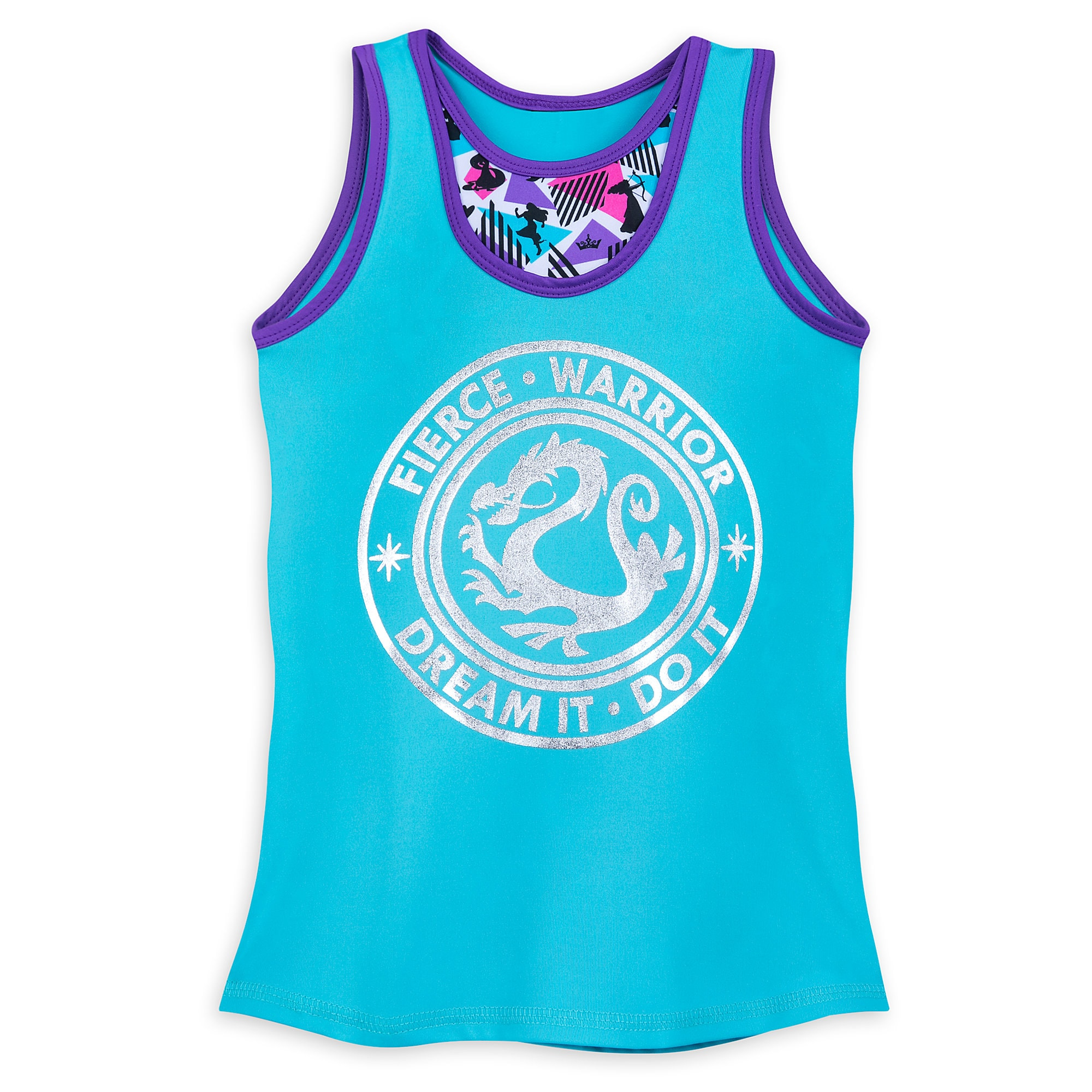 Disney Princess Reversible Performance Tank Top for Girls by Our Universe
