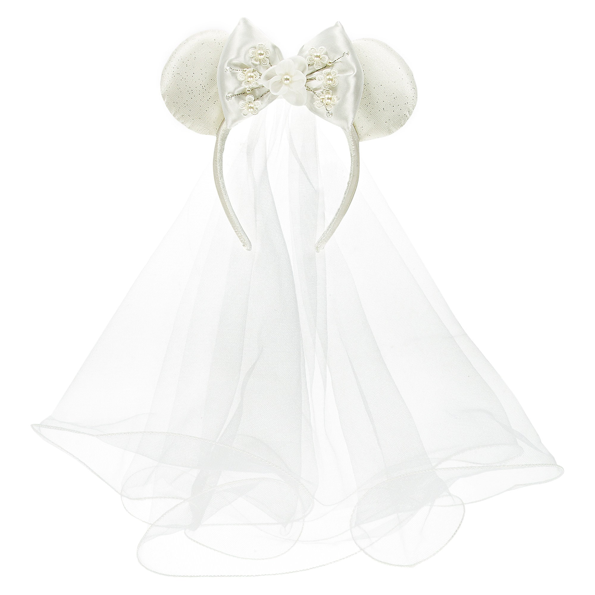 Product Image Of Minnie Mouse Bride Ear Headband 1: Mickey Mouse Wedding Dress At Reisefeber.org