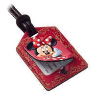 Image of Minnie Mouse Leather Luggage Tag - Personalizable # 2