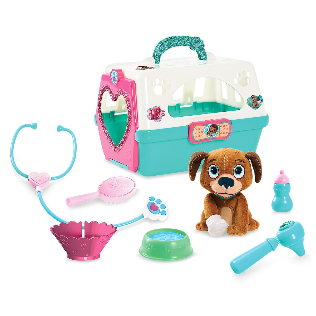 Doc McStuffins Toy Hospital On-the-Go Pet Vet Carrier with Findo ...