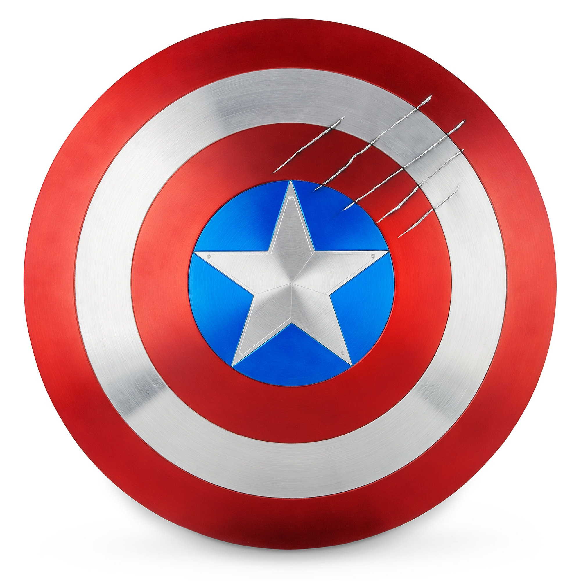 Captain America Shield with Black Panther Claw Marks - Marvel Masterworks  Collection Authentic Film Prop Duplicate - Limited Ed.  e6b018318855