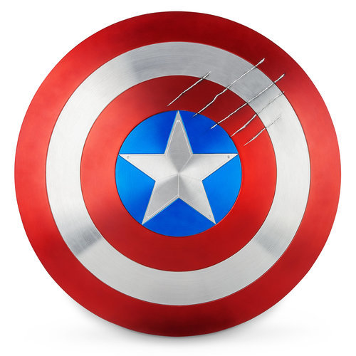 Captain America Shield With Black Panther Claw Marks