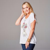 Image of Coco Guitar Split-Sleeve Fashion Top for Women # 4