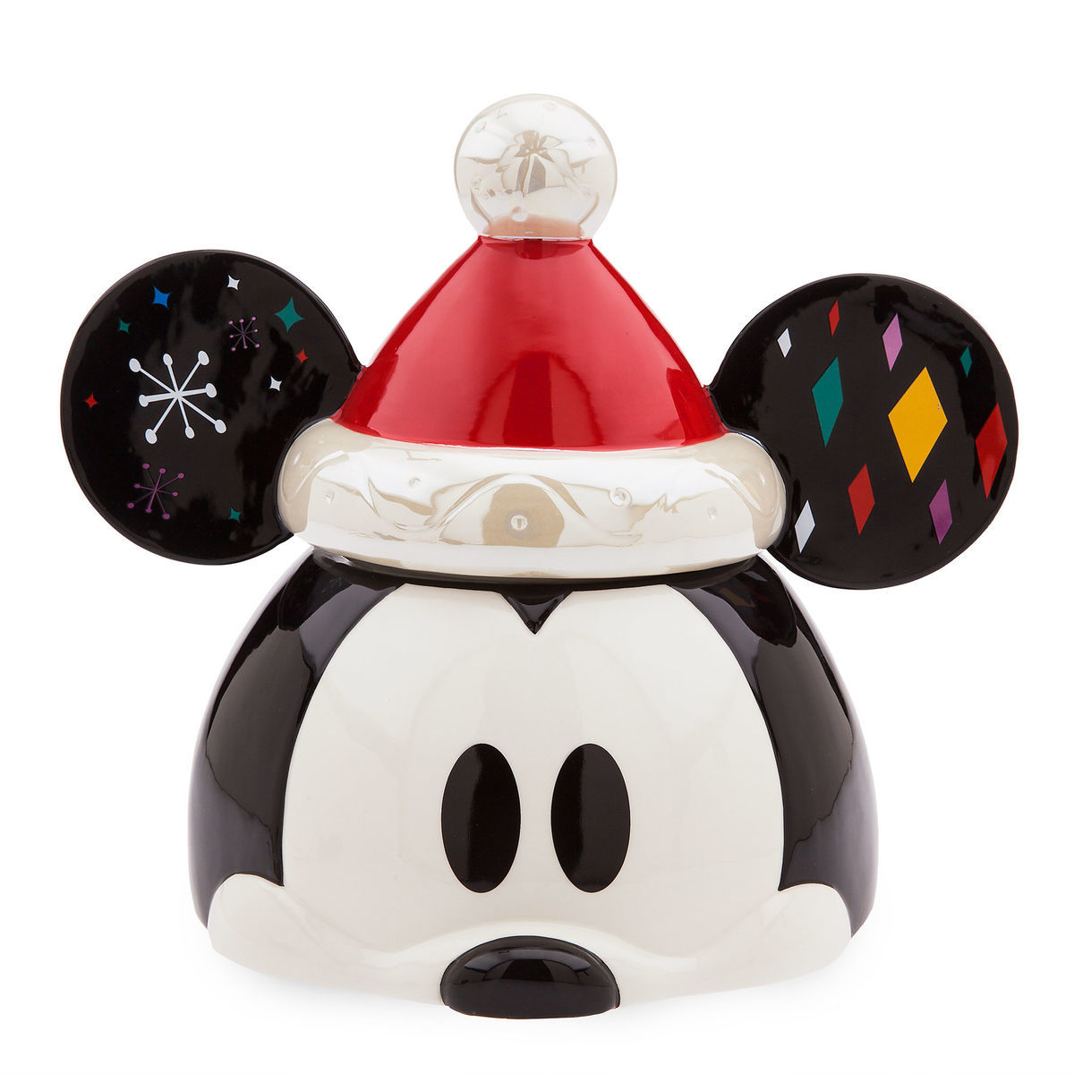 product image of mickey mouse holiday cookie jar 1