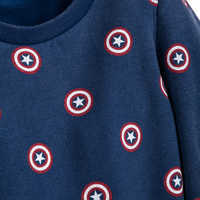 Image of Captain America Sweatshirt for Women by Her Universe # 4