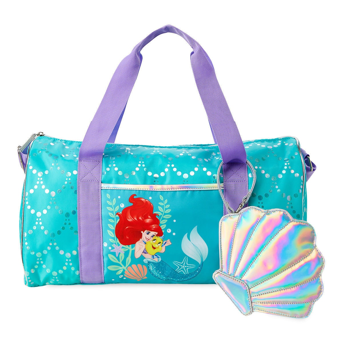 cc9e626a2e04 Product Image of Ariel and Flounder Duffle Bag for Kids - The Little Mermaid    1