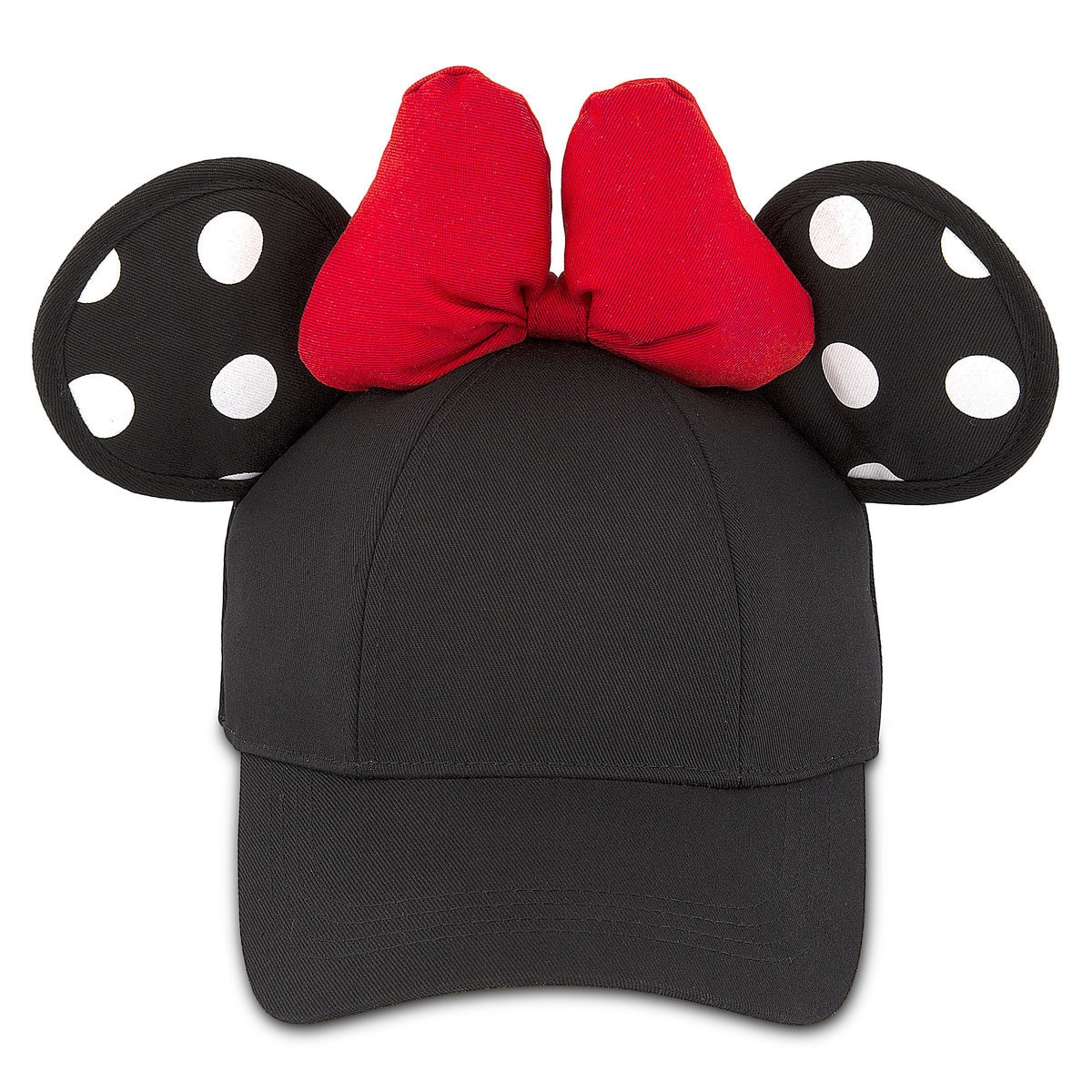 57dc56bc86241d Product Image of Minnie Mouse Polka Dot Ears Baseball Cap for Adults # 1