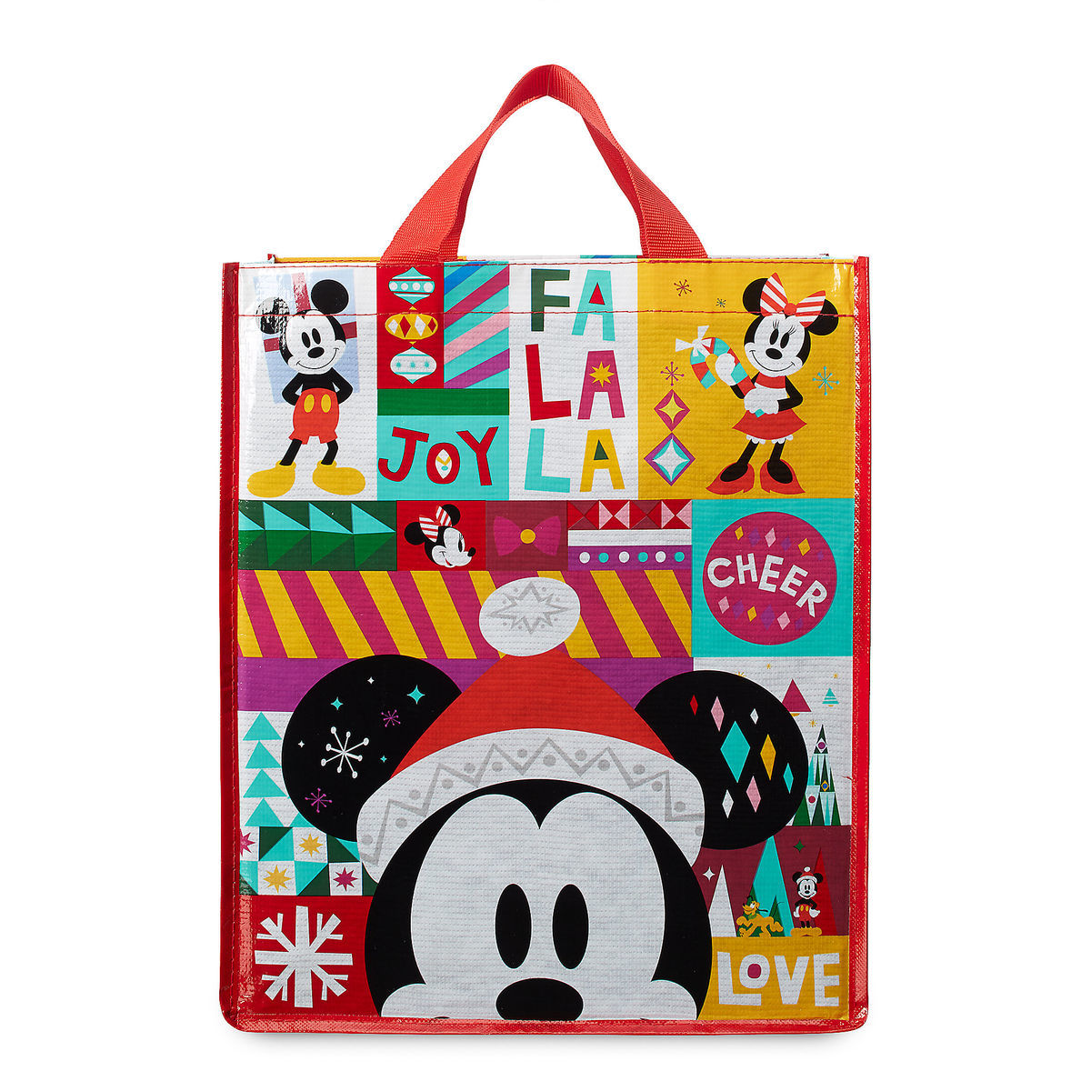 61b6dbefd59dc Product Image of Santa Mickey and Minnie Mouse Holiday Tote   1