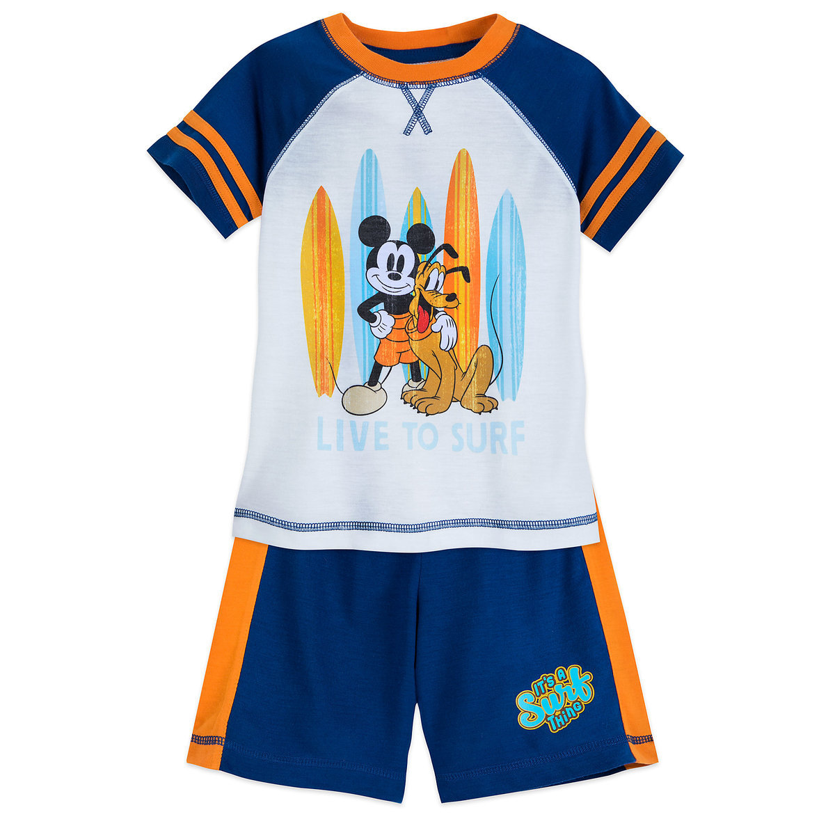 Product Image of Mickey Mouse and Pluto ''Surf'' Shorts Sleep Set for Boys # 1