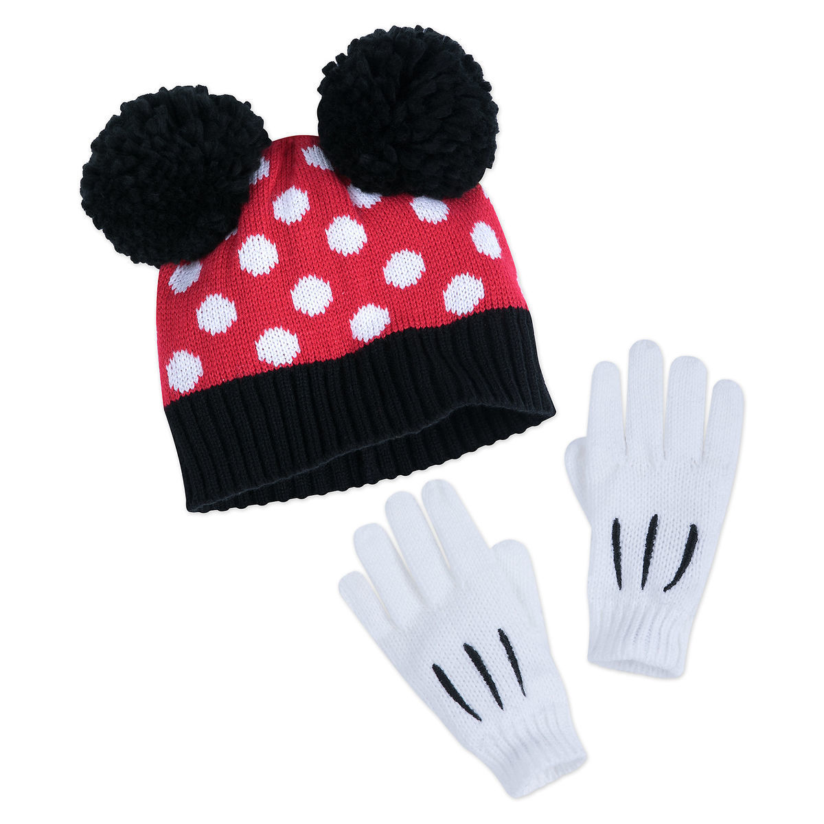 403eb884800 Product Image of Minnie Mouse Hat and Glove Set for Kids   1