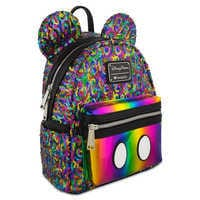 Image of Mickey Mouse Rainbow Mini Backpack by Loungefly # 1