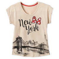 Image of Minnie Mouse New York City Skyline T-Shirt for Women # 1