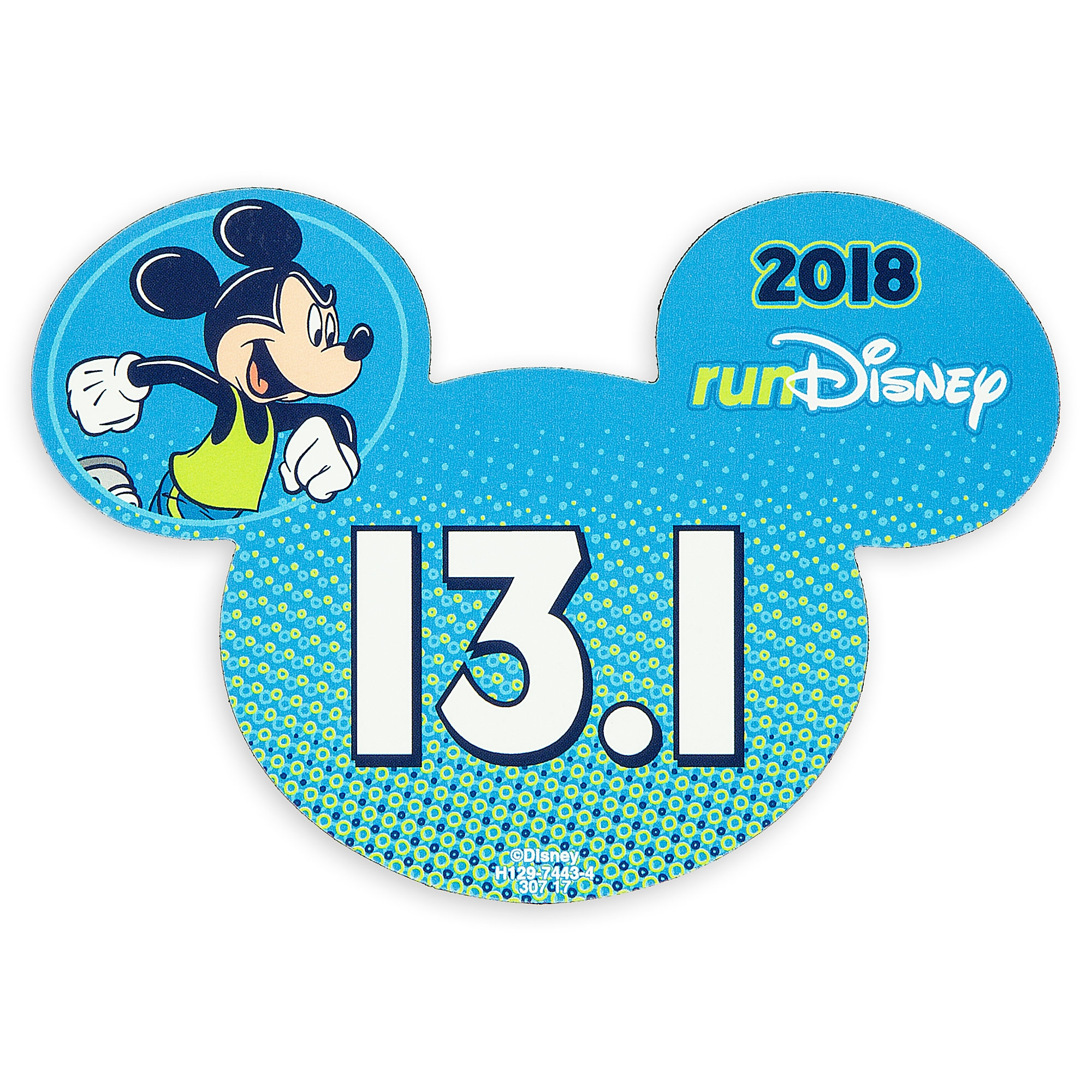 Mickey Mouse runDisney 2018 Magnet - 13.1