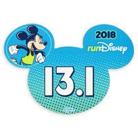 Image of Mickey Mouse runDisney 2018 Magnet - 13.1 # 1