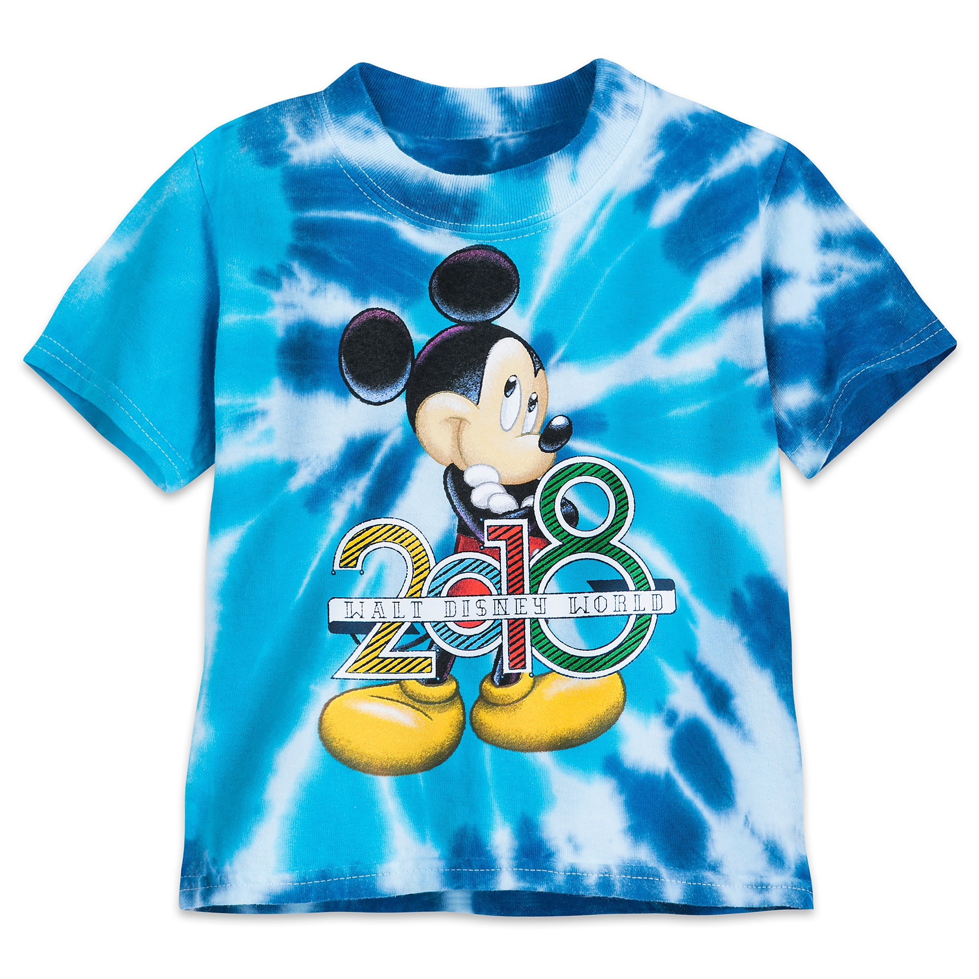 Mickey Mouse Tie Dye T Shirt for Kids Walt Disney World 2018
