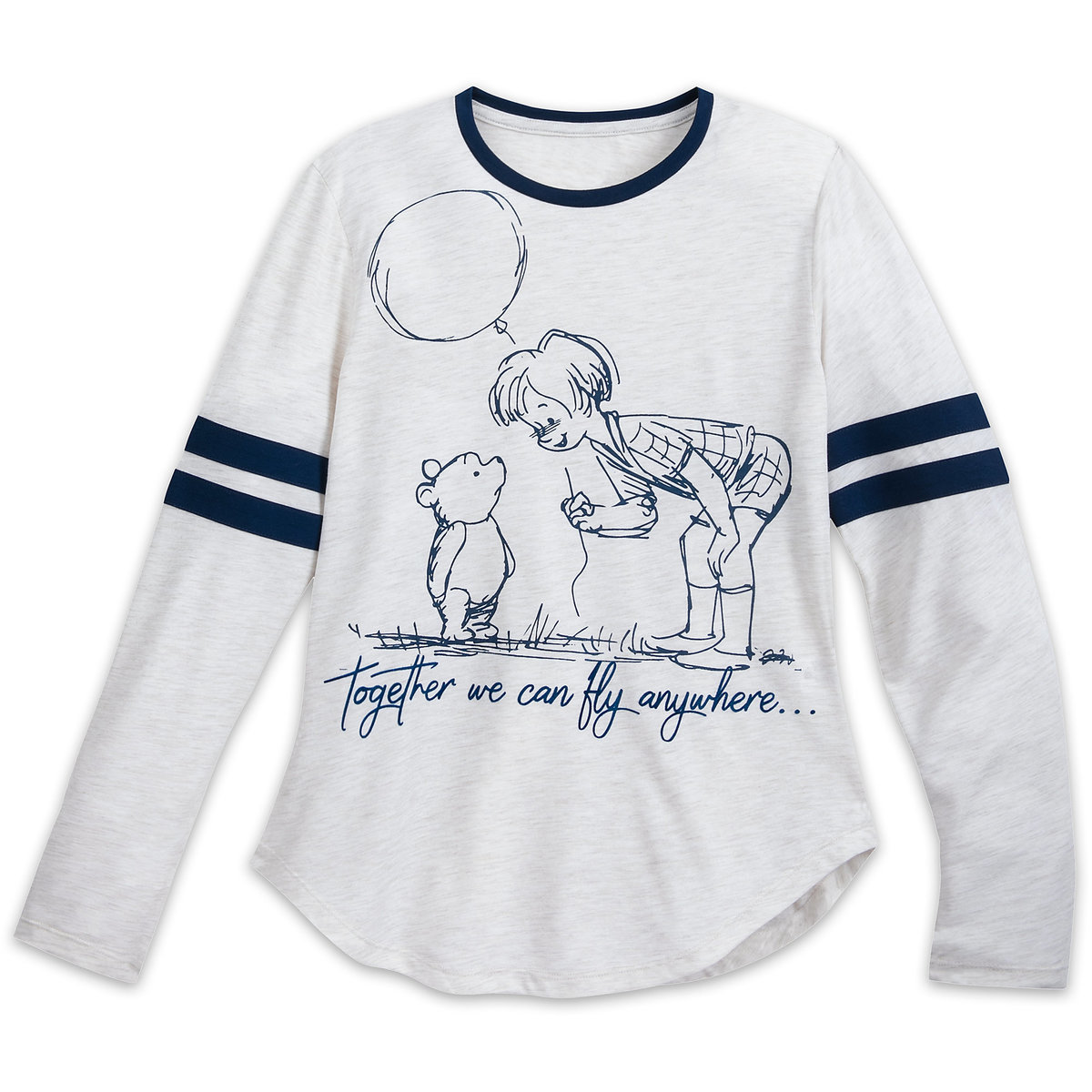 28dcc93be Product Image of Winnie the Pooh and Christopher Robin Long Sleeve Shirt  for Women # 1