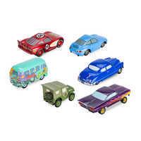 Image of Mack Friction Motor Hauler Truck Plus Six Pullback Cars Set # 6