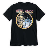 Image of C-3PO and R2-D2 Metal Heads T-Shirt for Men - Star Wars # 1