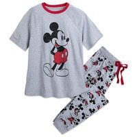 Mickey Mouse Pajama Set for Men - Mickey and Minnie Family Sleepwear