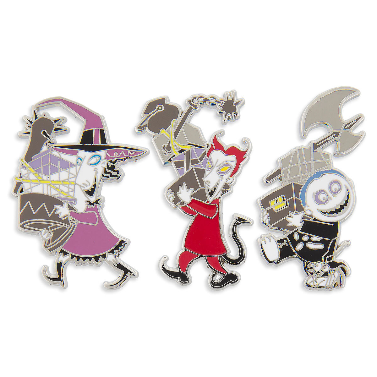 Lock, Shock, and Barrel Pin Set - The Nightmare Before Christmas ...