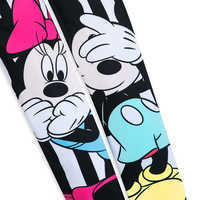 Image of Mickey and Minnie Mouse Striped Leggings for Women by Sugarbird # 3