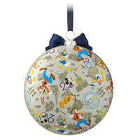 Image of Mickey Mouse and Friends Glass Disk Ornament - Walt Disney World 2019 # 2