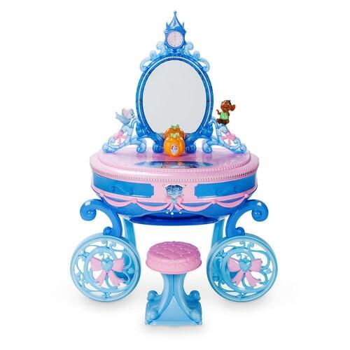cinderella carriage light up vanity play set shopdisney. Black Bedroom Furniture Sets. Home Design Ideas