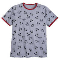 Image of Mickey Mouse Allover Ringer T-Shirt for Men - Extended Size # 1