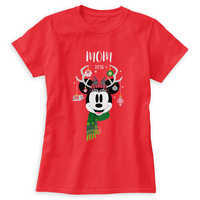 Image of Minnie Mouse Holiday Vacation T-Shirt for Women - Customizable # 1